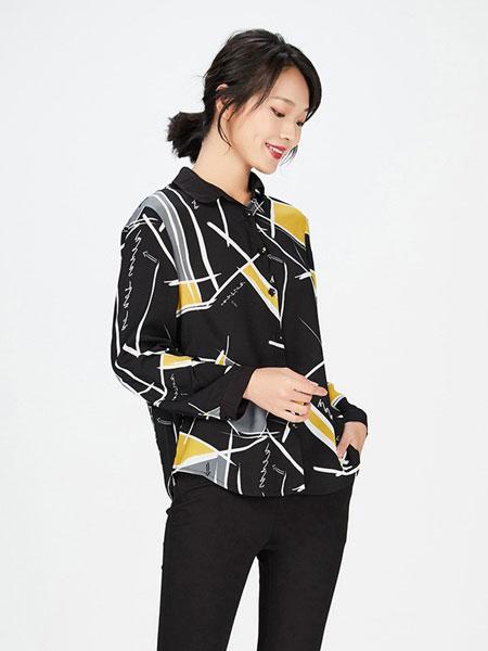 梦燕女装品牌2019春季新款时尚气质修身百搭衬衣