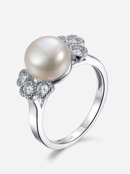 京润珍珠饰品品牌2019春夏韩版创意时尚珠宝珍珠指环