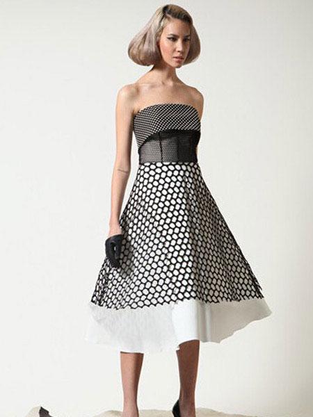 TUBEGALLERY女装品牌2019春夏新款高腰显瘦性感连衣裙