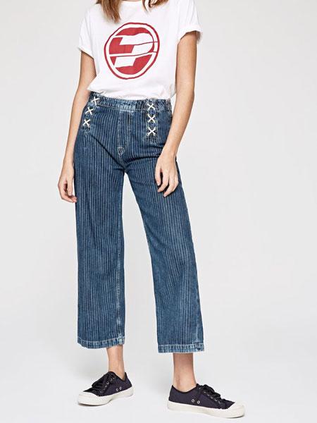 Pepe Jeans牛仔平安彩票网2019春夏新款高腰牛仔裤女老爹裤微喇弹力垂感宽松