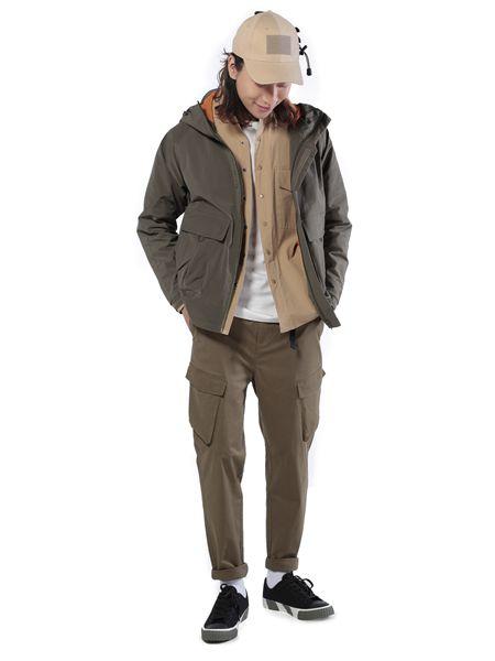 第二印象男装品牌2019春夏口袋连帽时尚 夹克短款风衣外套