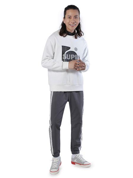 第二印象男装品牌2019春夏韩版休闲圆领长袖宽松运动上衣