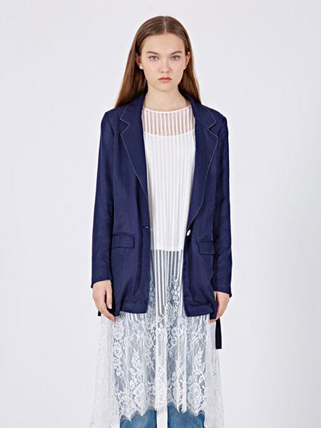 女性日记女装品牌2019春夏休闲七分袖上衣韩版修身时尚潮流外套