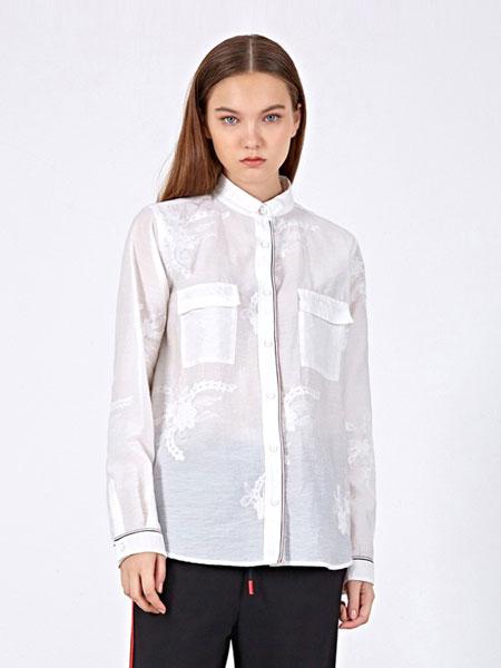 女性日记女装品牌2019春夏新款复古风条纹细节长袖衬衫