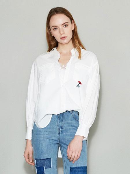 女性日记女装品牌2019春夏新款时尚简约通勤刺绣衬衫