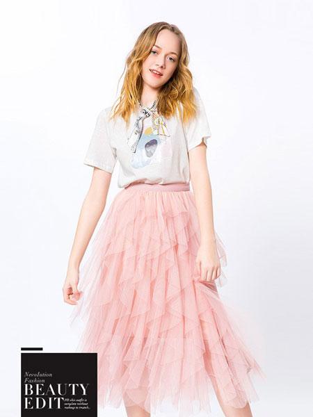 蒂蒂卡娜女装品牌2019春夏新款韩版字母印花宽松纯色上衣
