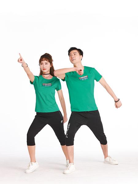龙子印亲子情侣品牌2019春夏新款韩版显瘦简约时尚百搭印花短袖