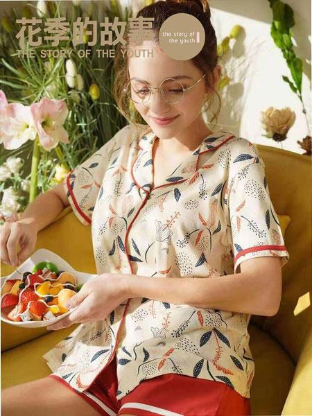 花季的故事内衣品牌2019春夏新款时尚宽松显瘦印花睡衣套装