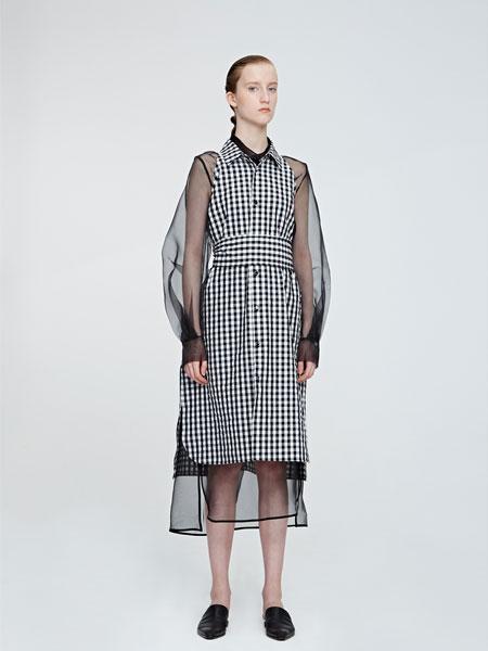VEGAZAISHIWANG女装品牌2019春夏新款时尚休闲格子连衣裙