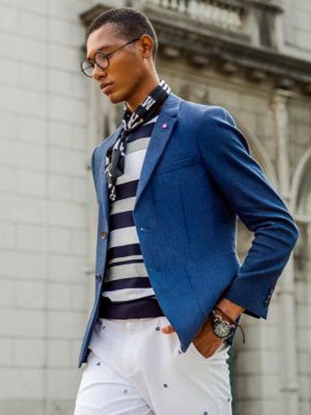 伦德.保罗男装品牌2019春季新款修身韩版小西服上衣帅气潮流单件外套