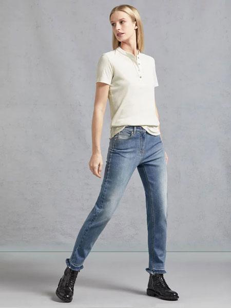 Belstaff贝达弗女装品牌2019春夏新款韩版牛仔裤百搭紧身显瘦浅色小脚长裤