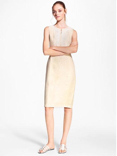 Black Fleece女装品牌2019春夏新款知性修身中长裙子