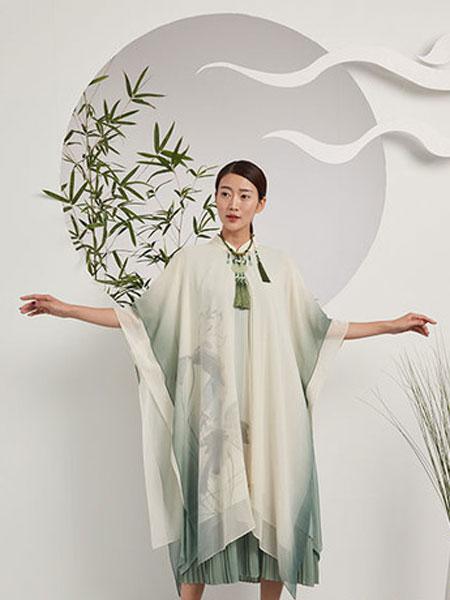 水墨生香女装品牌2019春季新款高端中长款气质连衣裙