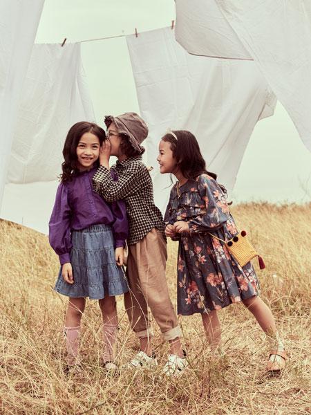 欧抱抱童装品牌2019春夏新款时尚休闲碎花连衣裙