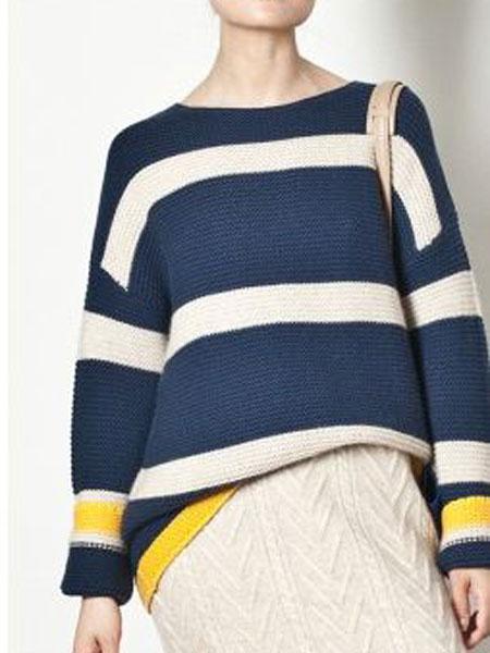 玛丝图女装品牌新款毛衣甜美宽松韩版显白针织毛衣开衫