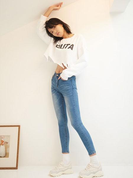 GAROSU女装品牌2019春季新款薄款小脚铅笔裤高腰九分裤