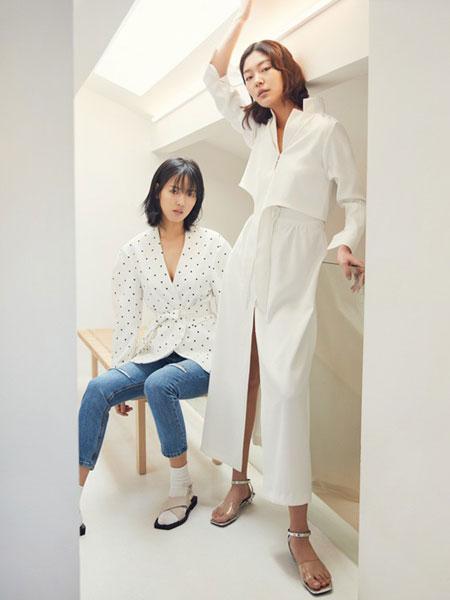 GAROSU女装品牌2019春季新款韩版性感修身包臀长袖衬衣连衣裙