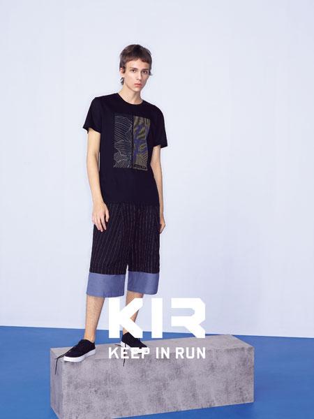 KIR男装男装品牌2019春夏新款韩版时尚休闲宽松短袖T恤