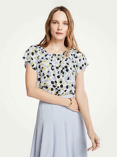 Ann Taylor安·泰勒女装品牌2019春夏新款韩版印花学生百搭上衣