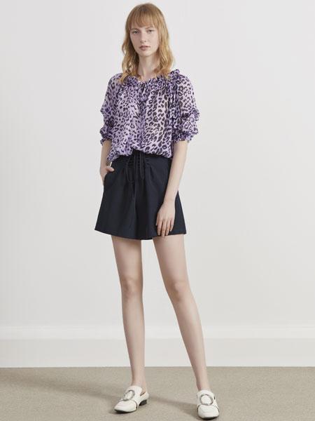 你即永恒女装品牌2019春夏新款时尚潮流碎花短袖上衣