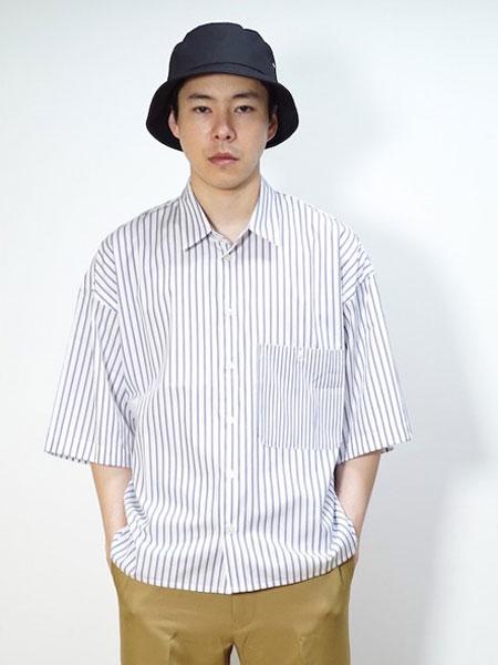 bukht男装品牌2019春夏新款纯色简约韩版日系翻领短袖t恤