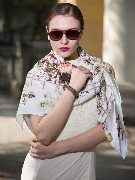 卡尼亚丝巾品牌2019春夏新款时尚民族风防晒围巾披肩两用