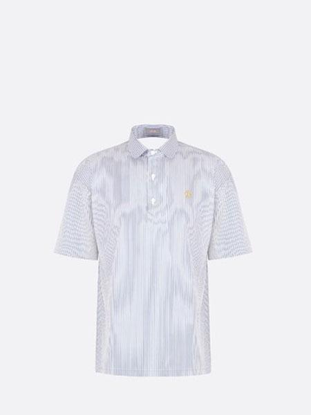 Dior Homme迪奥·桀傲男装品牌2019春夏新款韩版时尚休闲翻领短袖T恤