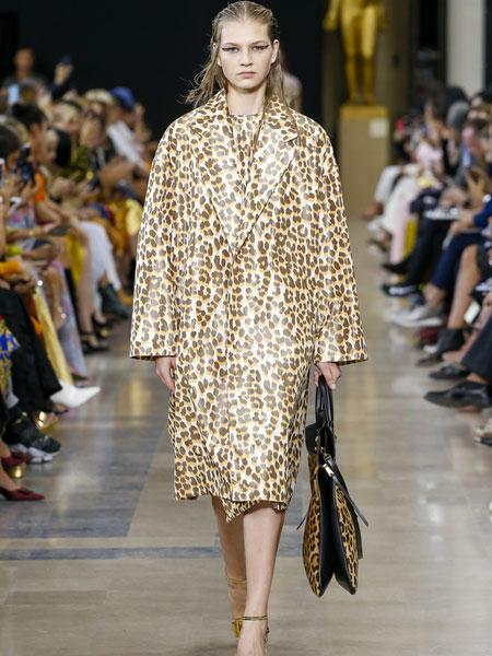巴黎罗莎 (Rochas)女装品牌2019春夏新款复古印花碎花日系显高显瘦文艺气质时尚修身显瘦连衣裙
