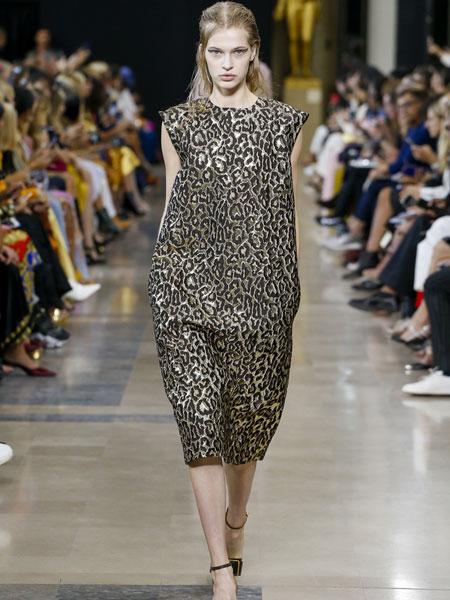 巴黎罗莎 (Rochas)女装品牌2019春夏新款时尚休闲收腰显瘦连衣裙
