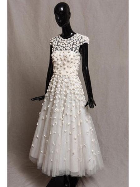 Bruce Oldfield布鲁斯·奥德菲尔德女装品牌2019春夏新款时尚收腰显瘦礼服连衣裙