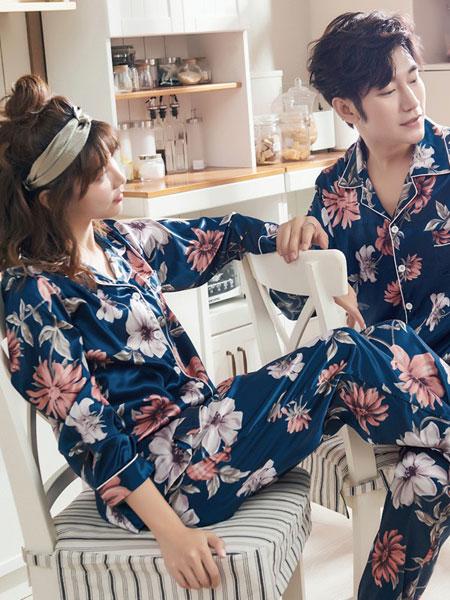 誀沁内衣品牌2019春夏新款韩版时尚休闲情侣睡衣套装