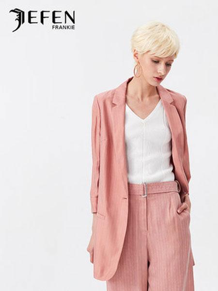 吉芬女装品牌2019春夏新款中长OL职业西装外套上衣