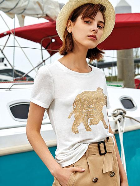 卡塔女装品牌2019春夏新款时尚休闲百搭短袖T恤