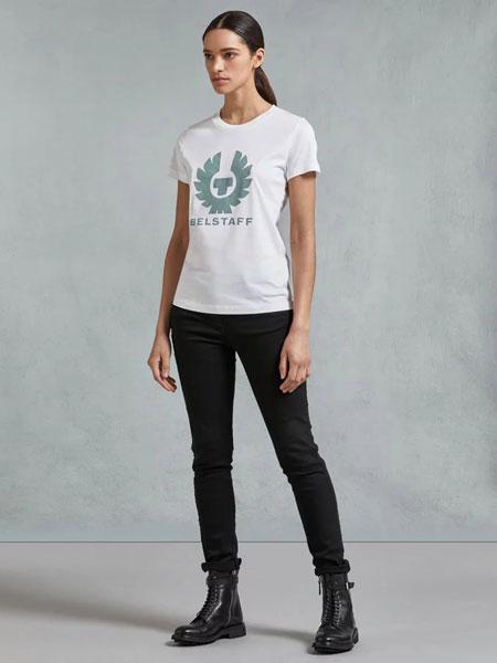 Belstaff贝达弗女装品牌2019春夏新款时尚休闲圆领短袖T恤