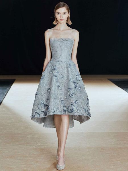 SHINE MODA婚纱/礼服品牌2019春夏新款优雅显瘦聚会晚装主持人礼服修身连衣裙