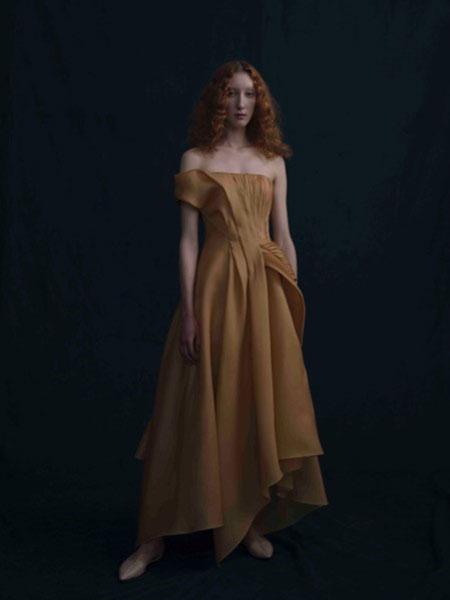 SHINE MODA婚纱/礼服品牌2019春夏新款优雅一字肩长款宴会晚礼服
