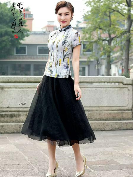 唐雅阁女装品牌2019春夏新款修身时尚短款旗袍上衣