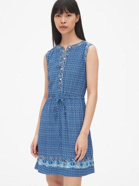 C.J Yao女装品牌2019春夏新款背心裙流行无袖印花收腰连衣裙