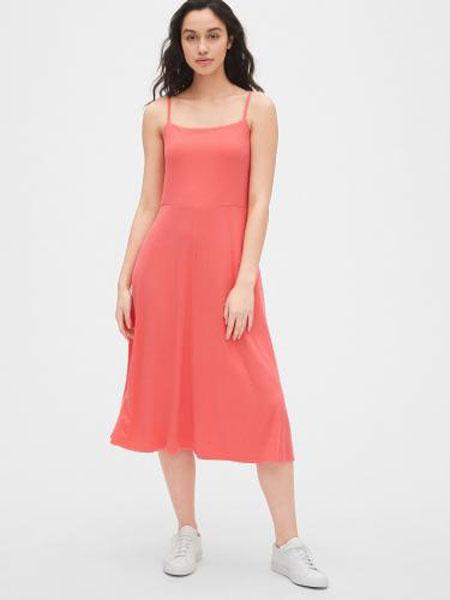 C.J Yao女装品牌2019春夏新款仙女裙清新吊带裙过膝中长款连衣裙