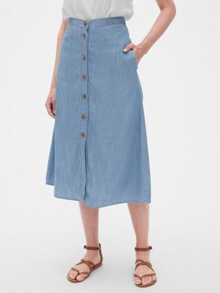 C.J Yao女装品牌2019春夏新款垂坠感A字裙纯色中长款半身裙