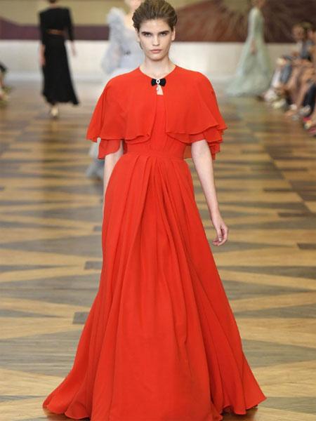 Ulyana Sergeenko女装品牌2019春夏新款时尚显瘦长款大摆裙