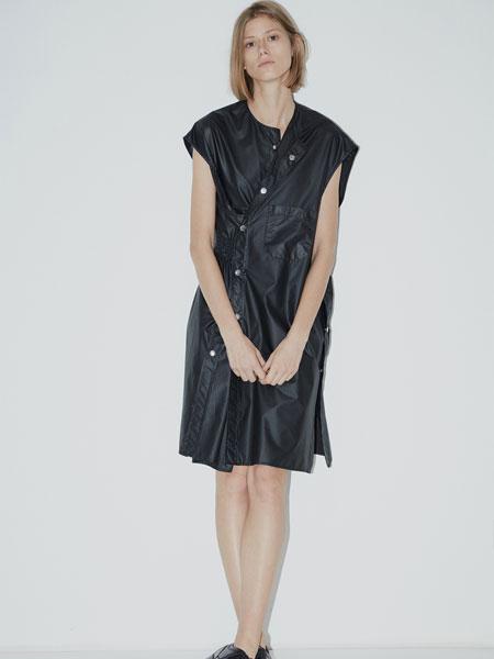 QIUHAO设计师品牌女装品牌2019春夏新款时尚休闲宽松连衣裙