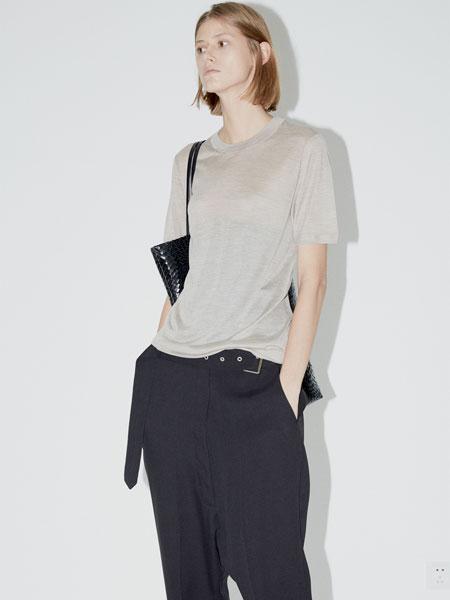 QIUHAO设计师品牌女装品牌2019春夏新款韩版内搭体桖套头圆领上衣