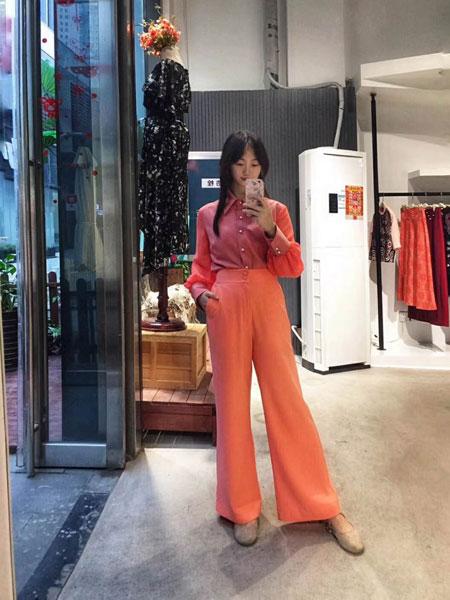 Selia Lee女装品牌2019春夏新款韩版高腰垂坠感九分宽松显瘦阔腿裤