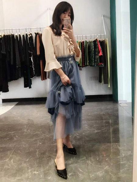 Selia Lee女装品牌2019春夏新款气质不规则纱裙超仙女裙蓬蓬蛋糕裙网纱半身裙中长款气质