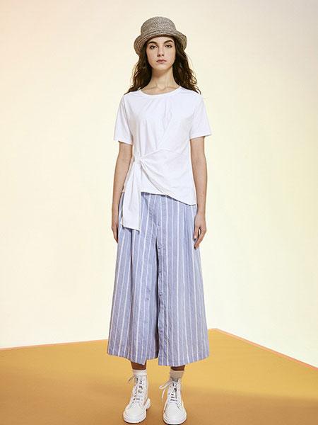 序言女装品牌2019春夏纯色时尚气质显瘦短袖简约潮
