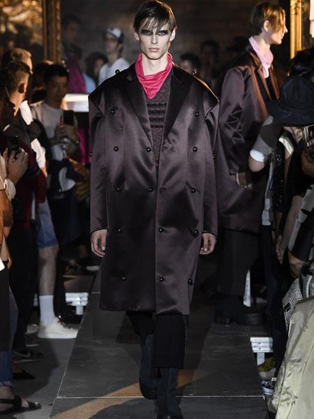 拉夫·西蒙男装品牌2019春夏新款韩版时尚休闲宽松中长款西装外套