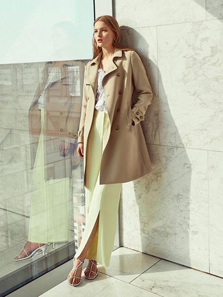 东广国际-DONGKWANG女装品牌2019春季新款韩版宽松卡其色学生百搭外套