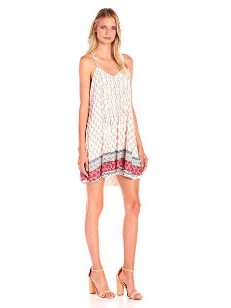 Clover Canyon女装品牌2019春夏新款百搭复古印花打底裙无袖吊带连衣裙沙滩裙