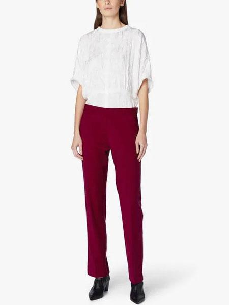 Derek Lam德里克・林女装品牌2019春夏新款宽松蝙蝠短袖圆领衬衫雪纺衫T恤